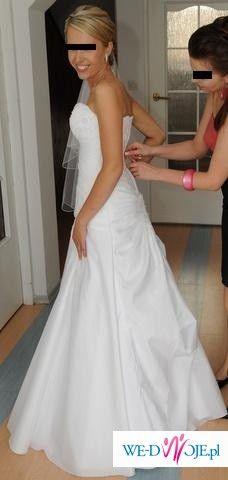 Przepiękna śnieżnobiała suknia ślubna, okazja