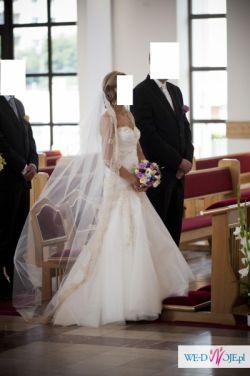 Przepiękna suknia +gratis  długi welon z koronką!!!
