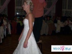 Przepiekna Suknia Herm's model Kelaz wyszywana kryształakami swavorskiego