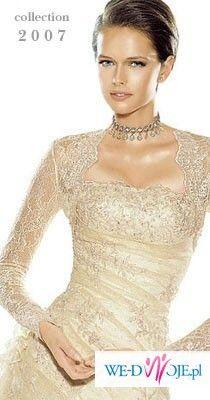 Przepiekna suknia i bolerko La Sposa Sandalo