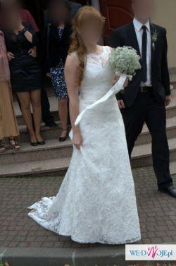 Przepiękna suknia koronkowa AGNES Ecru