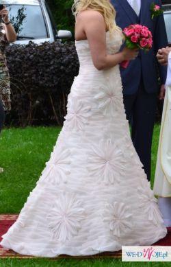 Przepiękna suknia - pudrowy róż - rozmiar 40