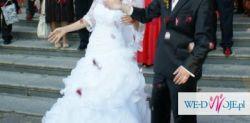 przepiękna suknia rozm.38 wzros 164 plus 6cm obcas