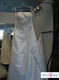 Przepiękna suknia ślubna  australijsko-amerykańskiej firmy Wings Bridal w  kolor