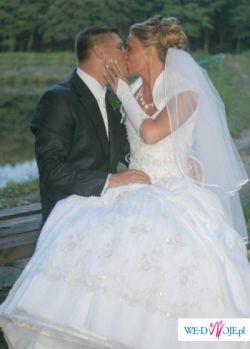 Przepiękna suknia ślubna+ bolerko