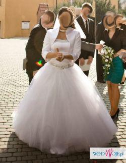 """Przepiękna suknia ślubna """"DEMI"""" Karina - jak księżniczka! + DODATKI"""