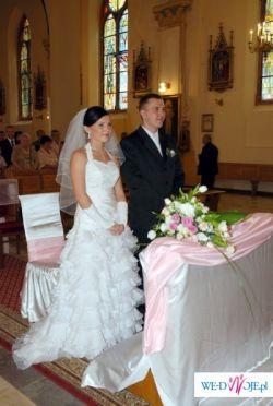 Przepiękna suknia ślubna Hiszpanka dla drobnej kobietki