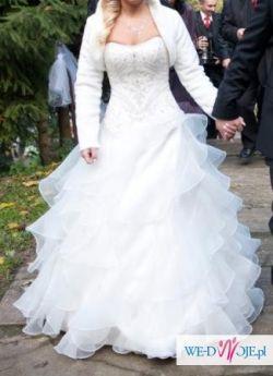 """Przepiękna suknia ślubna """"hiszpanka"""" ecru"""