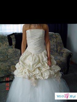 Przepiękna suknia ślubna-JEDYNA- 800 ZŁ