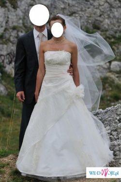 Przepiekna suknia ślubna kolor ecru