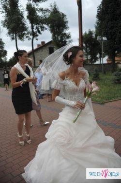 Przepiękna suknia ślubna kryształki svarowskiego agora 8002 jak nowa