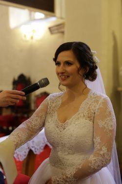 Przepiękna Suknia ślubna Kształt Litery A Z Koronką Ręczne