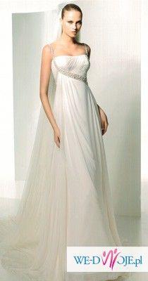 Przepiękna suknia ślubna Manuel Mota (Pronovias) model Salem