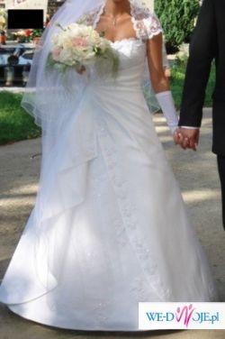 Przepiękna suknia ślubna Miss Kelly + halka + bolerko