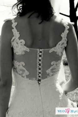 Przepiękna suknia ślubna na bardzo szczupłą dziewczynę!
