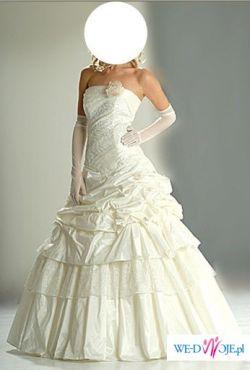 Przepiękna suknia ślubna, ok. 175 cm + obcas