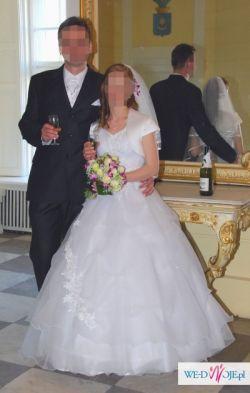 Przepiękna suknia ślubna PRINCESSA - biała