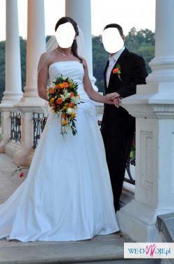 Przepiękna suknia ślubna rozm. 36/38 wzrost 164+170 cm