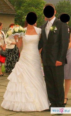 Przepiękna suknia ślubna rozmiar 36+GRATIS!