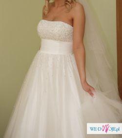 Przepiękna Suknia Słubna typu księżniczka roz. 36 S/M