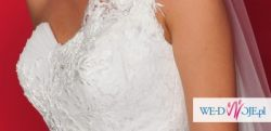 Przepiękna suknia ślubna w idealnym stanie + dodatki