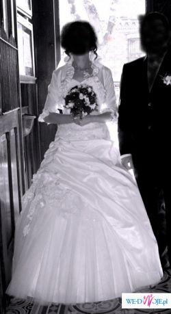 Przepiękna suknia ślubna w kolorze białym