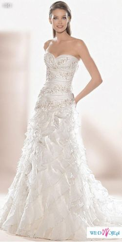 Przepiękna suknia ślubna w stylu hiszpańskim Atelier Diagonal 1843