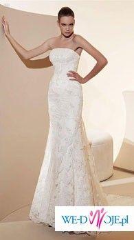 PRZEPIĘKNA Suknia Ślubna White One 424