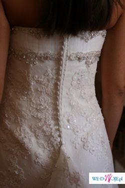 Przepiękna suknia ślubna z długim trenem 36/38