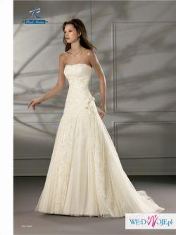 Przepiękna suknia ślubna z hiszpańskiej koronki r. 36