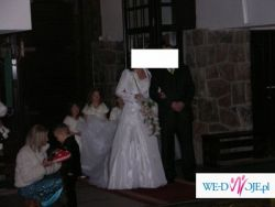 Przepiekna suknia ślubna z odpinanym trenem