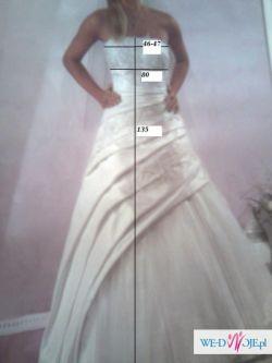 przepiękną suknie ślubną w kolorze ecru 170-175 Bydgoszcz