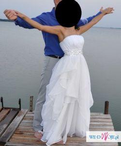 Przepiękna, zwiewna Suknia Ślubna rozm. 36 OKAZJA!!!
