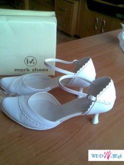 Przepiękne białe buciki do ślubu rozmiar 38