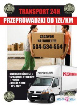 PRZEPROWADZKI 534-534-554 przewóz rzeczy transport krakow