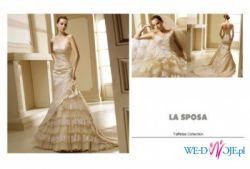 Prześlczna hiszpańska suknia z kolekcji La Sposa Madeira