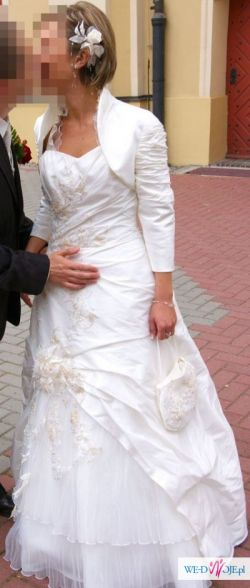 Prześliczna 1-częściowa suknia ślubna w kolorze ecru