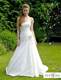 prześliczna  biała suknia ślubna