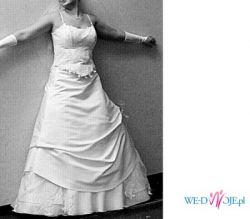 Prześliczna biała suknia z salonu Marietta, rozmiar 40-42