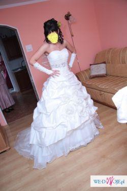 Prześliczna ecru suknia ślubna IRMINA