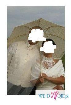 Prześliczna, elegancka, cudowna suknia ślubna r 36+ gratis