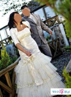 !!! Prześliczna i nietypowa suknia ślubna !!!