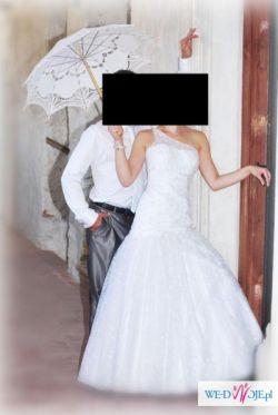 Prześliczna, nietypowa suknia slubna roz. 36