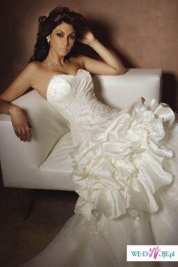 Prześliczna oryginalan suknia firmy COSMOBELLA 7235 biała roz 38