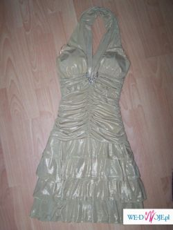Przesliczna sukienka!! złota, na każdą okazje
