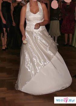 Prześliczna suknia koloru ecru