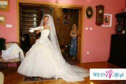 Prześliczna suknia ślubna  Demetrios 2747