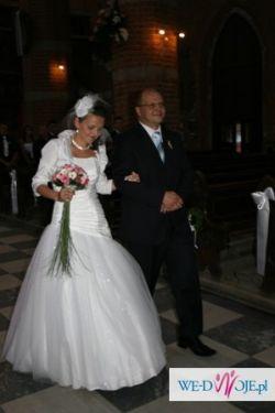 Prześliczna suknia ślubna firmy Duber, rozm. M