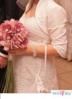 Prześliczna suknia ślubna koronkowa rozm. 38-40