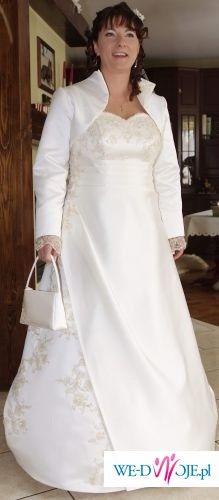 Prześliczna suknia ślubna! rozmiar 42